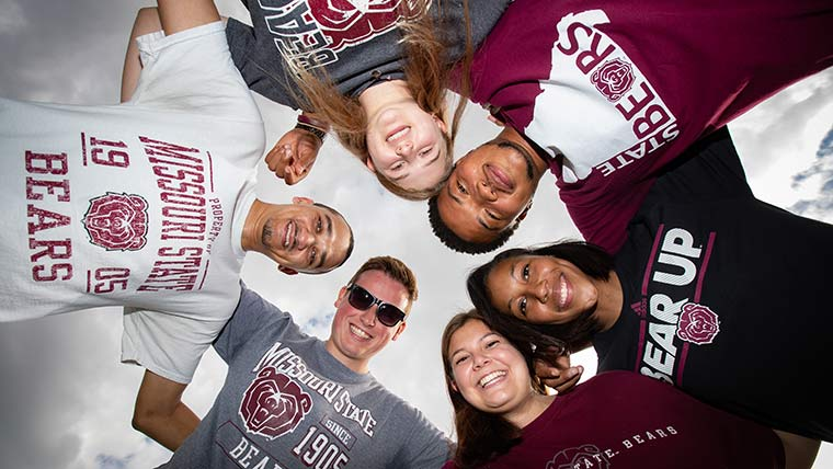 Missouri State students in BearWear.